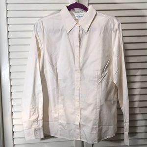 Cream Button-down Shirt Size L
